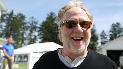 """Actor Timothy Busfield shares his favorite moments from the movie """"Field of Dreams"""" at the 25th anniversary of the iconic Iowa movie on June 14, 2014, at the movie site outside Dyersville, Iowa."""