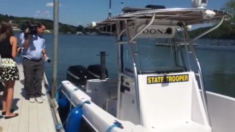 Craig Ellingson inspects the boat involved in son's death