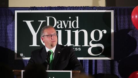 David Young delivers victory speech