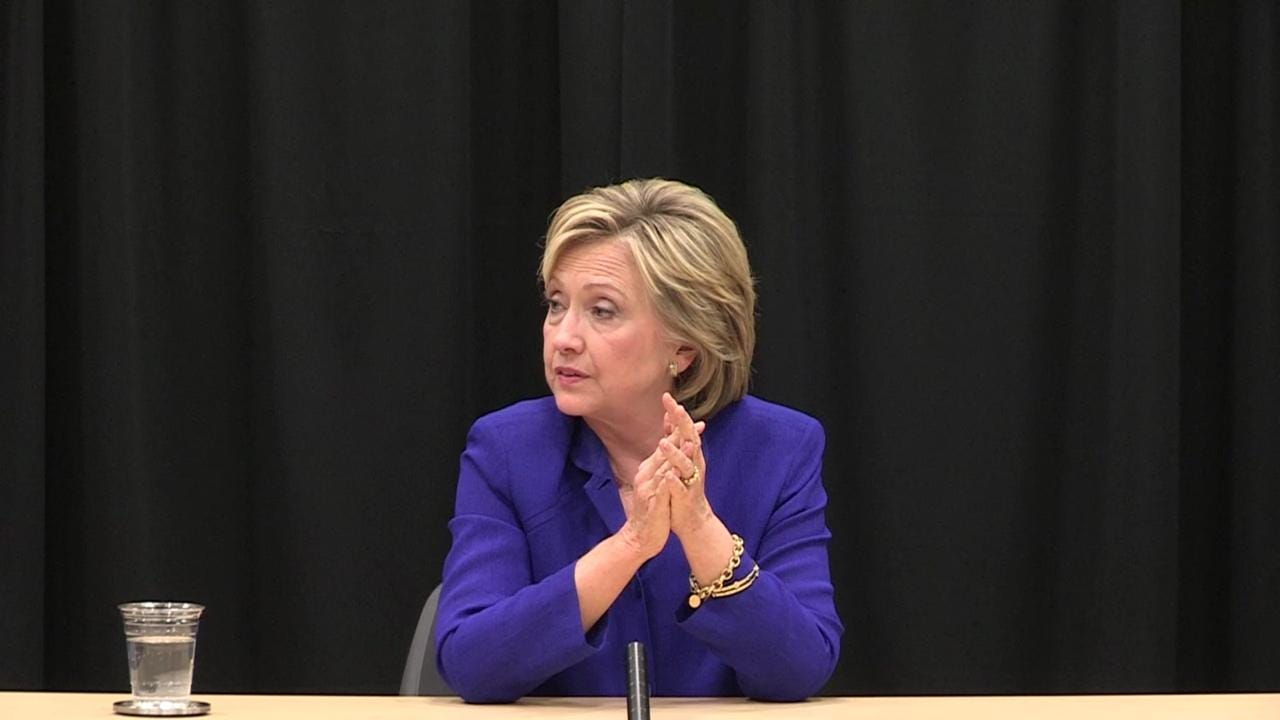 Clinton on the rising cost of college