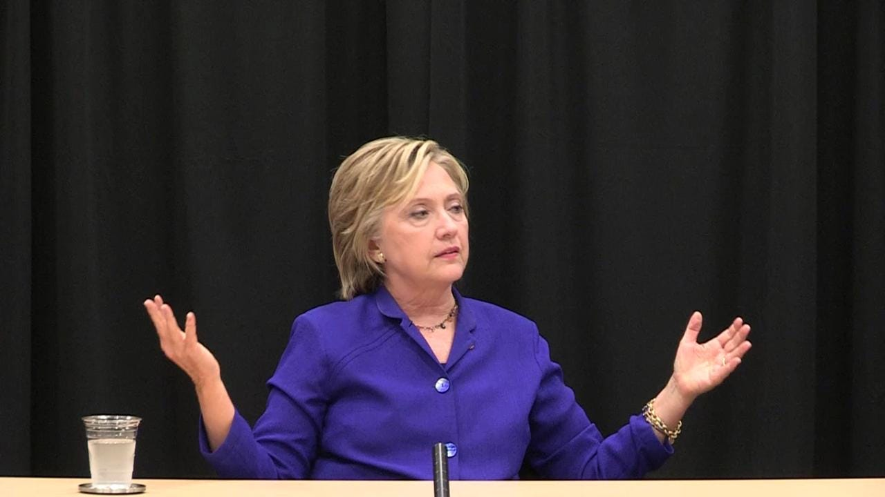 Clinton on Trump and the rise of political outsiders