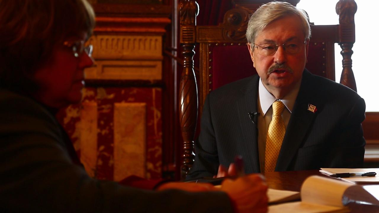 Gov. Branstad discusses stance on gun control in Iowa