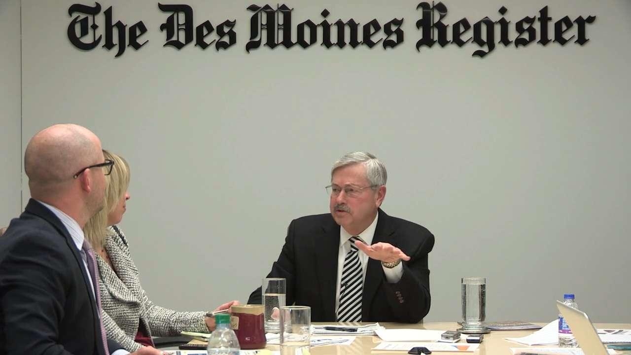 Branstad talks Medicaid delays, pressure from newspaper