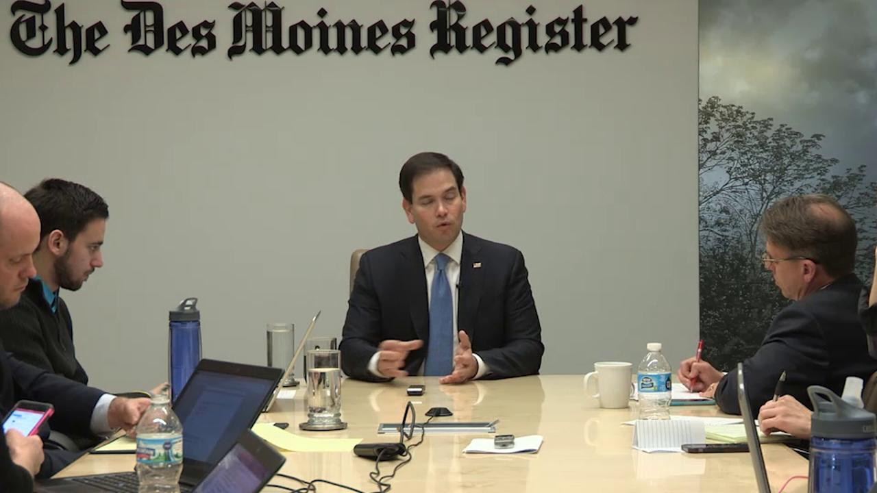 Full interview: Marco Rubio meets with the Register editorial board