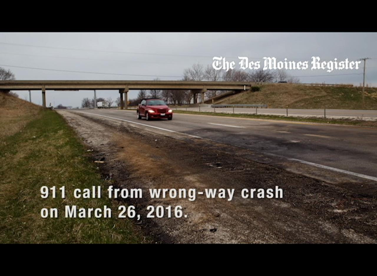 911 AUDIO: Witness spots officers' vehicle in wrong-way crash