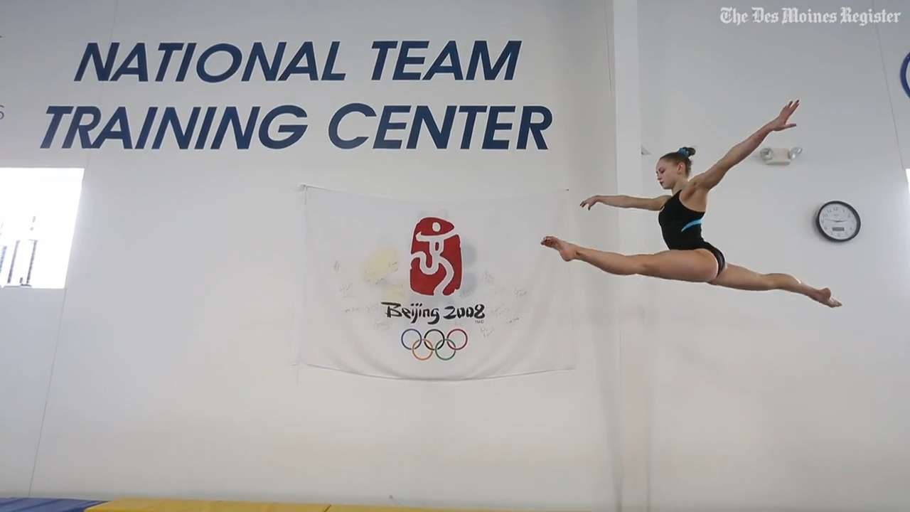 As she prepares for the Olympic trials in July, Urbandale's Rachel Gowey shows what it's like to train as an elite gymnast at Chow's Gymnastics and Dance in West Des Moines.