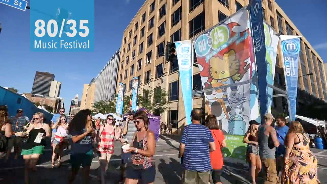 The Decemberists, The Black Lips and an estimated 28,000 people bring the 80/35 music festival to a close in downtown Des Moines.