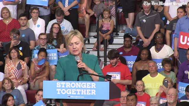 Hillary Clinton describes the critical difference between herself and Donald Trump