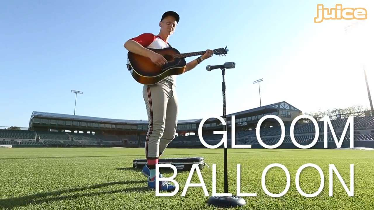 Patrick Tape Fleming of Gloom Balloon takes a swing at our Side Sessions music series, performing in the outfield of Principal Park in Des Moines.