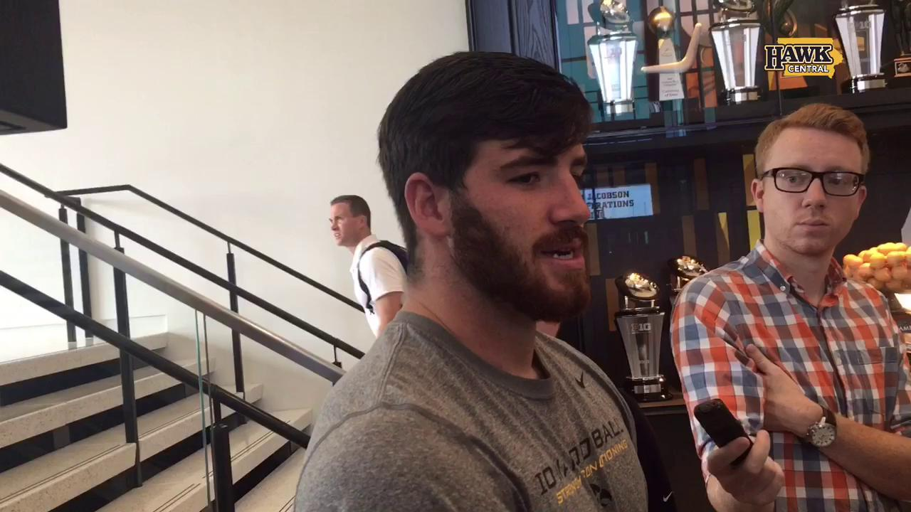 Iowa's Josey Jewell talks about the play that got him ejected