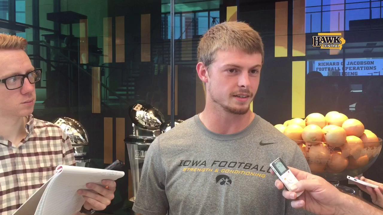 Iowa's Matt VandeBerg on getting ready for Rutgers