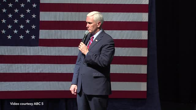 'Don't say that,' Pence says to revolution-ready voter