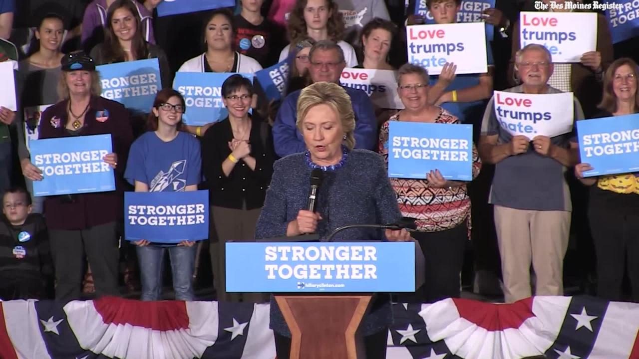 WATCH: Hillary Clinton campaign event at Roosevelt HS - full remarks