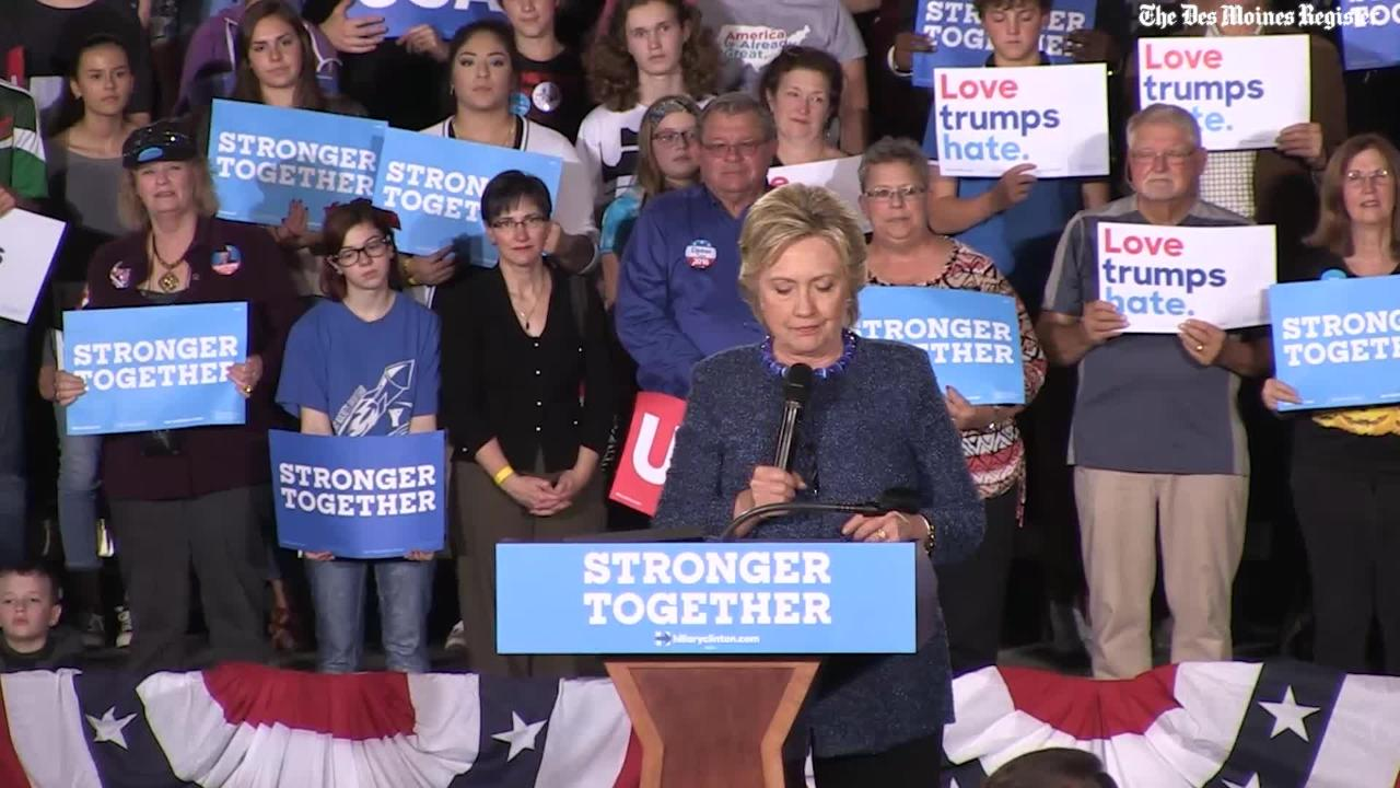 Clinton feels she has the stamina to be President