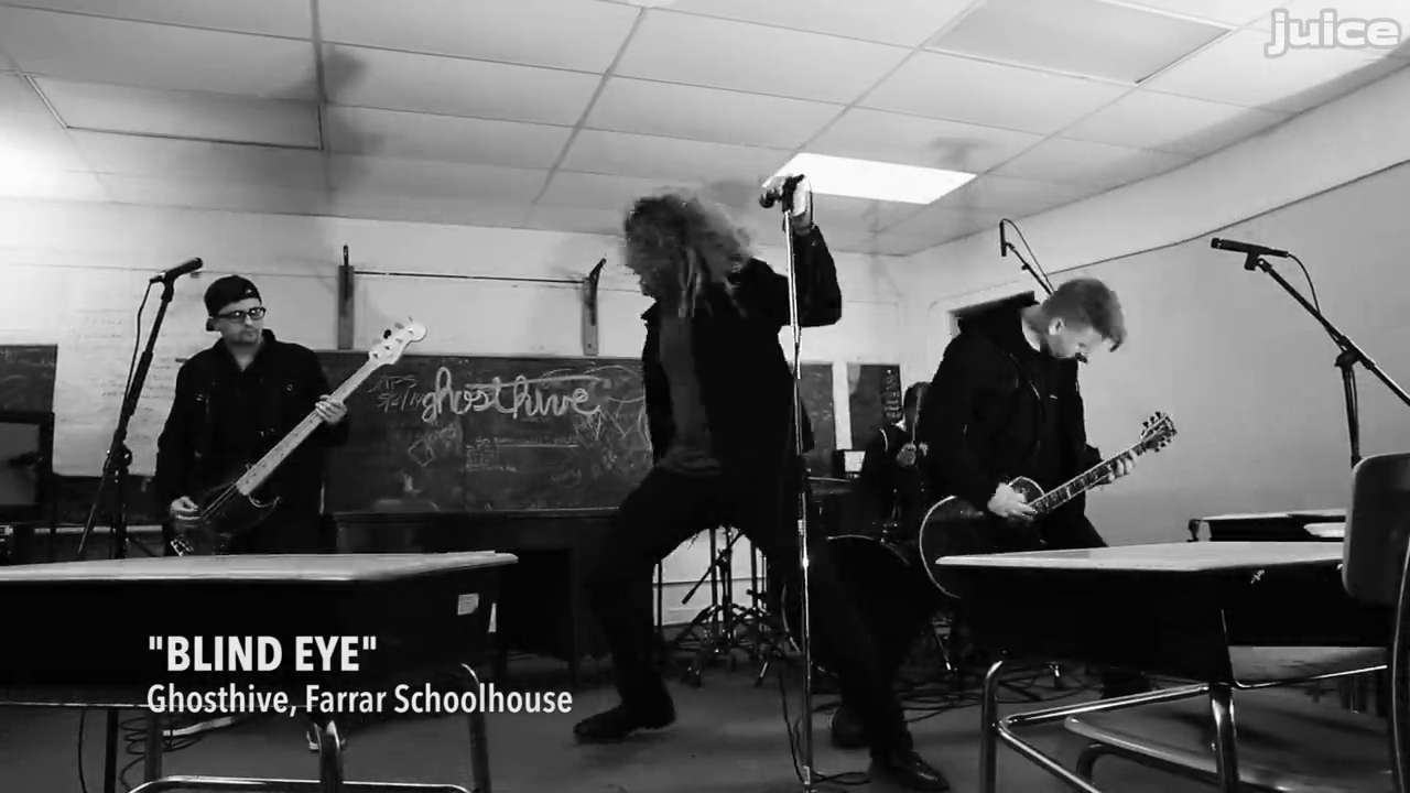 Des Moines band Ghosthive performs at The Farrar Schoolhouse, an adandoned elementary school with a haunting reputation. The performance was part of the Juice Side Sessions music series.