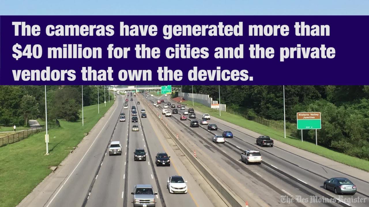 Iowa cities fighting to keep speed cameras