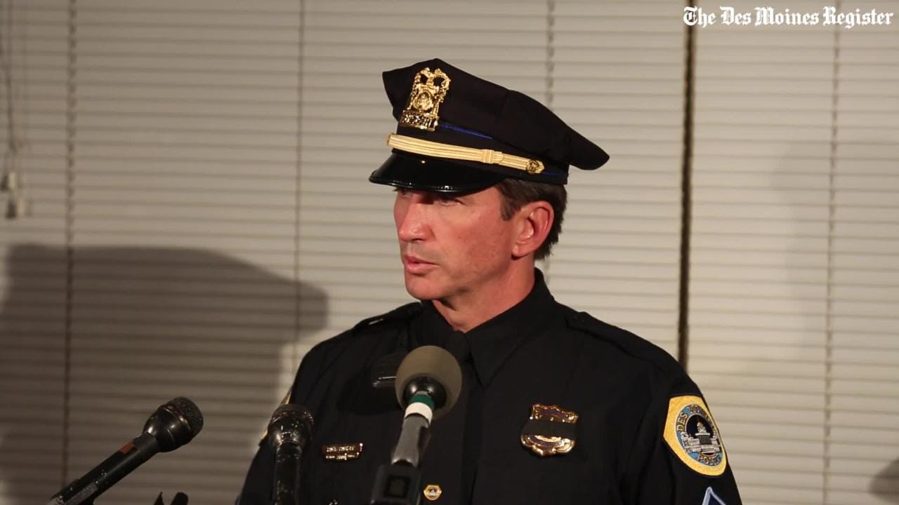 Full video: Des Moines and Urbandale police officers shot and killed overnight