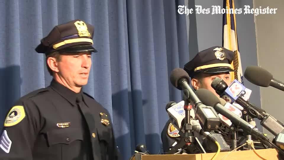 Sgt. Parizek takes media questions about police shootings during press conference