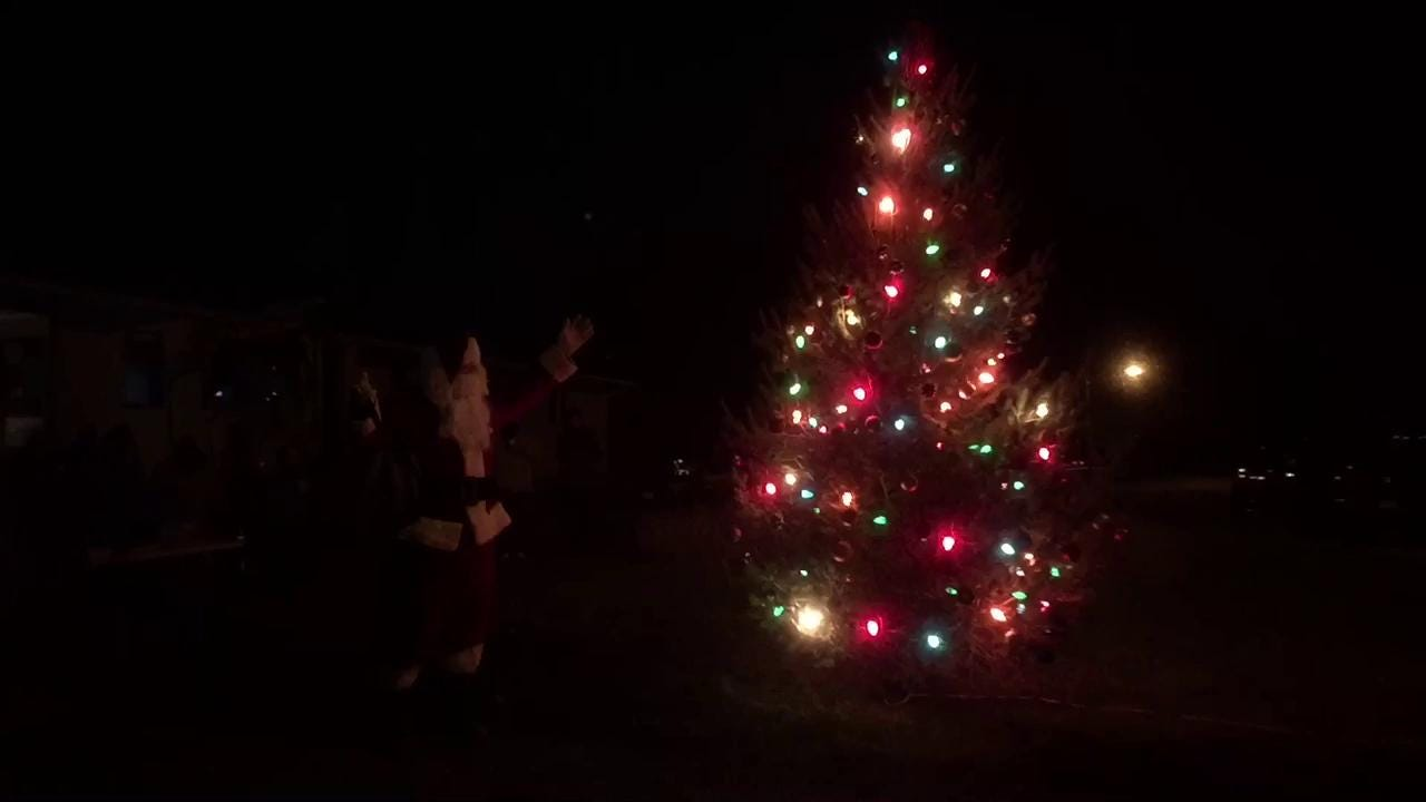 The small Polk County town of Alleman decided to join the municipal Christmas tree craze on Dec. 1, 2016.