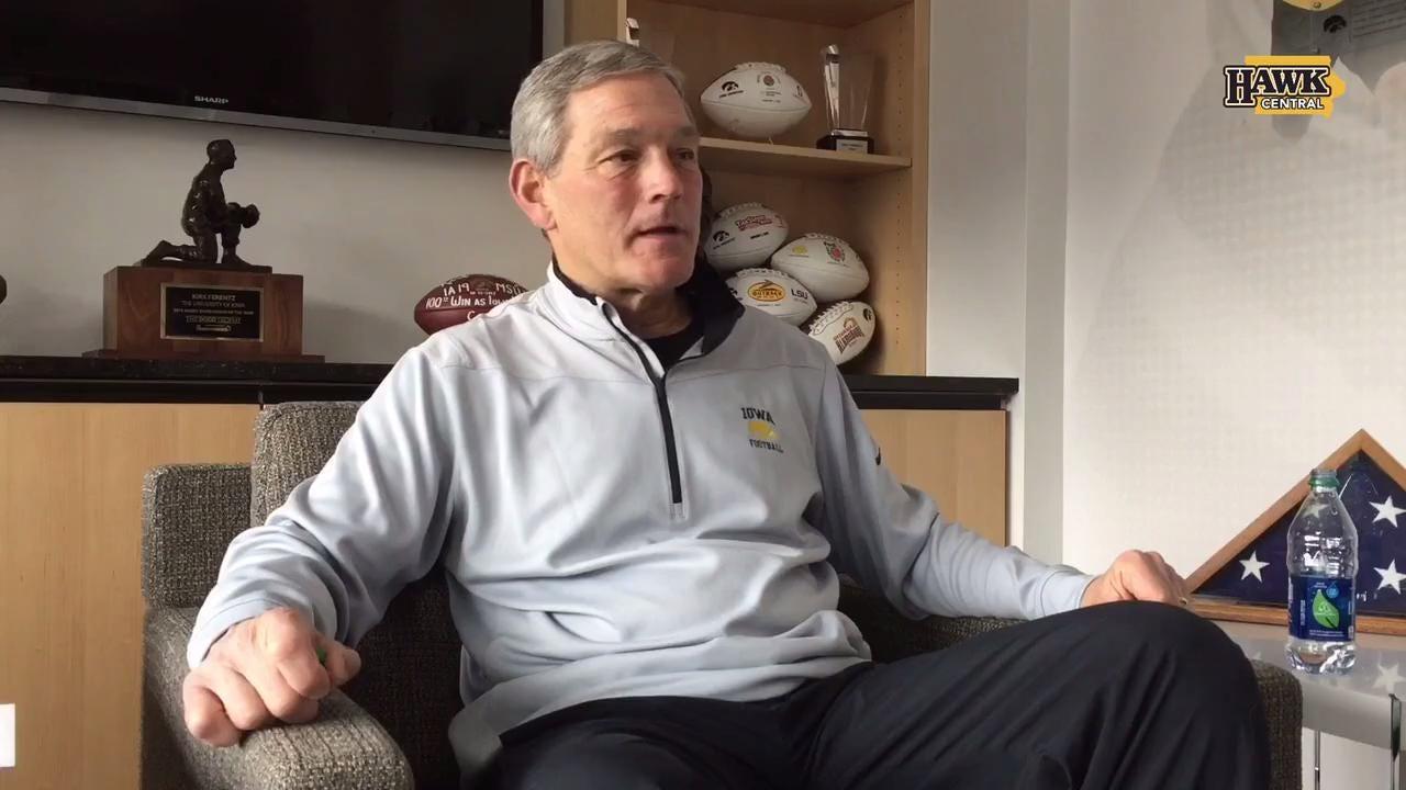Kirk Ferentz on his son, recruiting & politics