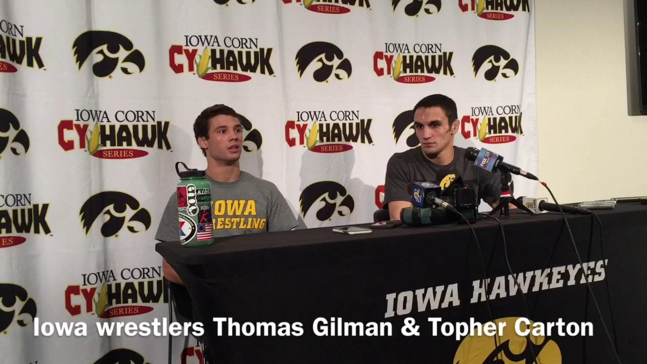 Iowa seniors Gilman, Carton recap Cy-Hawk wins