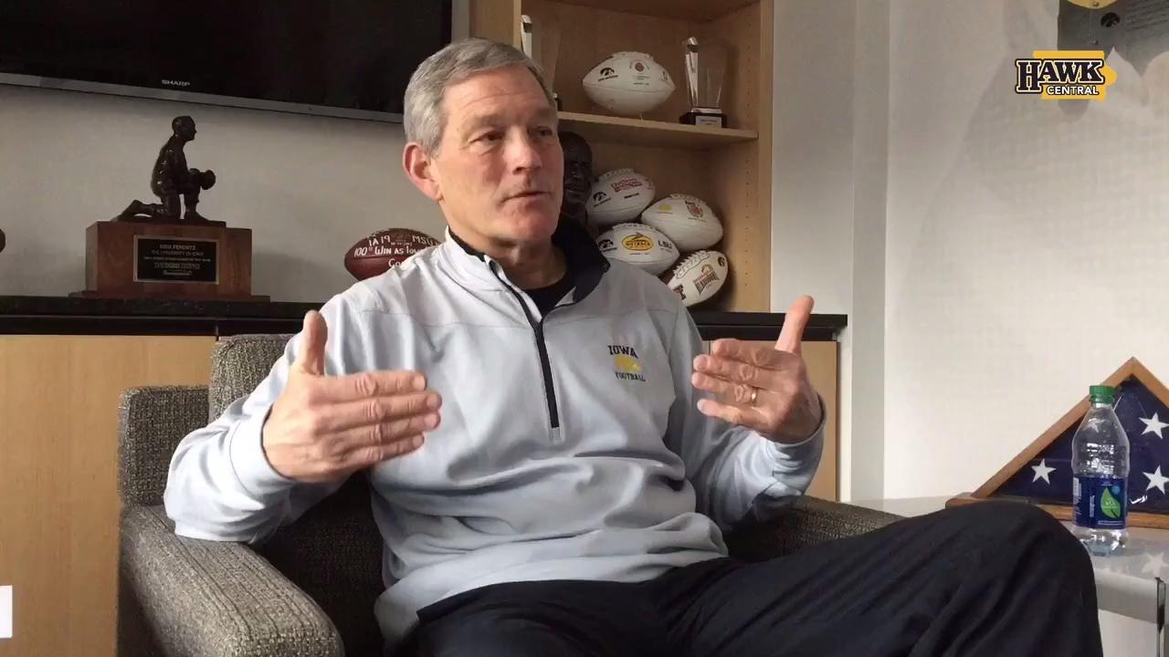 Is Kirk Ferentz happy with Iowa's 8-4 season?
