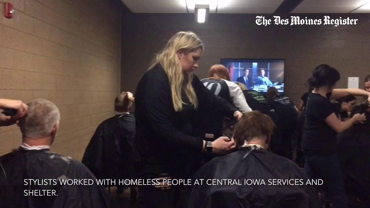 Free Haircuts For Homeless Clip Some Worries Away