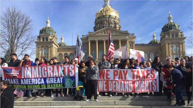 Iowa 'Day Without Immigrants' demonstration