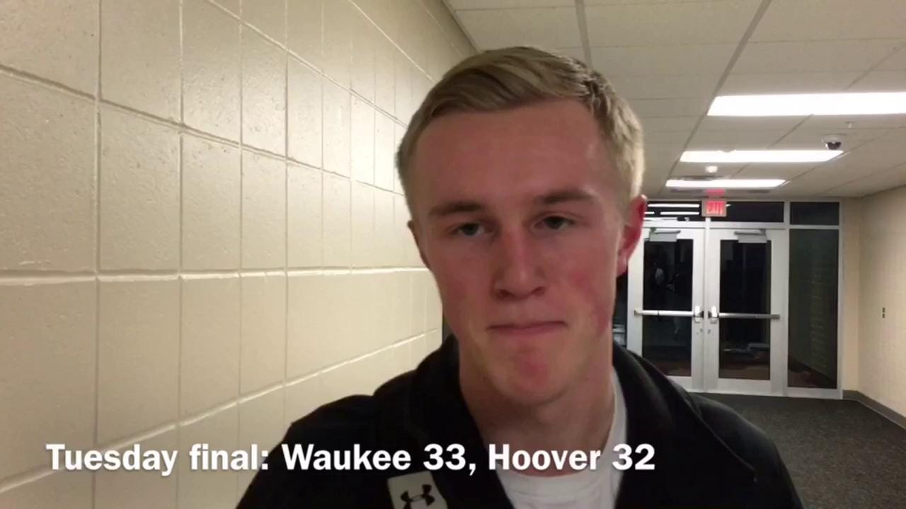 The Waukee senior, after beating Hoover 33-32 on Tuesday.