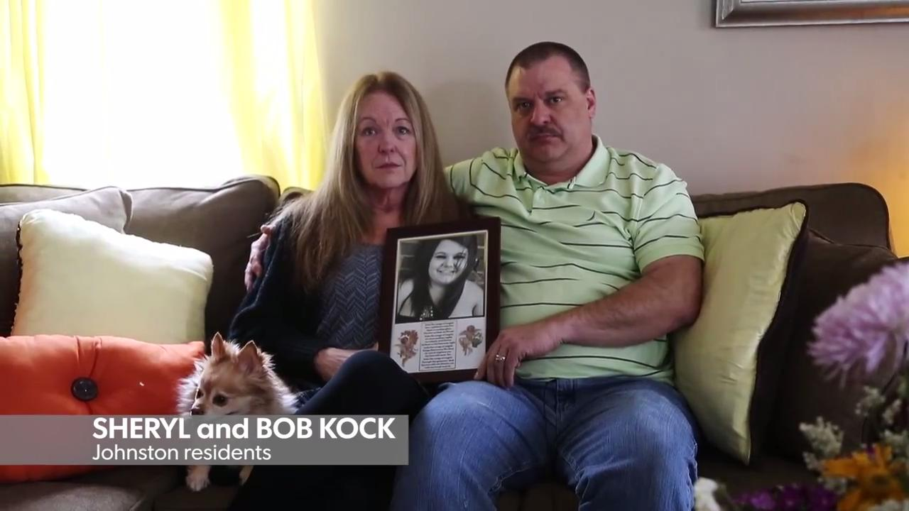 "Sheryl and Bob Kock of Johnston decided to be ""brutally honest"" in their daughter's obituary after she died of a heroin overdose. Here they discuss why they chose to speak out about the fight their family faced against addiction."