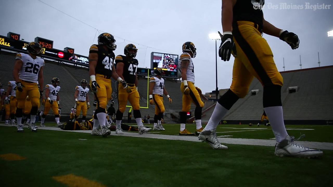 Sights and sounds from Iowa's spring game