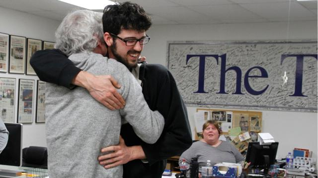 Art Cullen, 59, editor of the twice-weekly Storm Lake Times, won a Pulitzer Prize on Monday for his editorial writing.