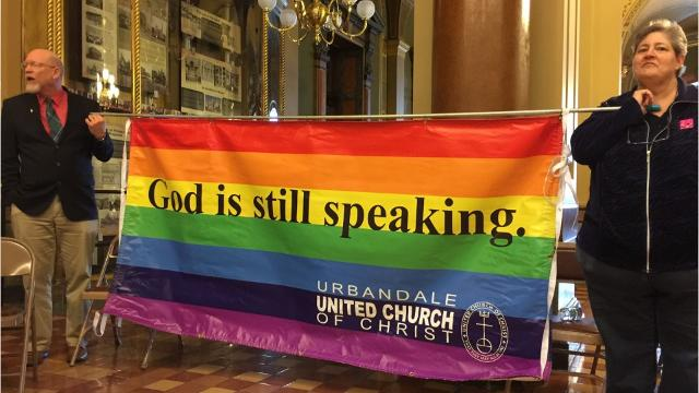 'Freedom to Believe Rally' at Iowa Capitol