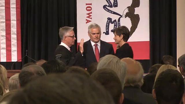 Kim Reynolds sworn in as next Governor of Iowa