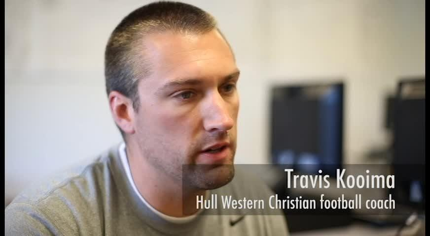 Western Christian football manager Landon Harthoorn wins All-Iowa Inspiration Award
