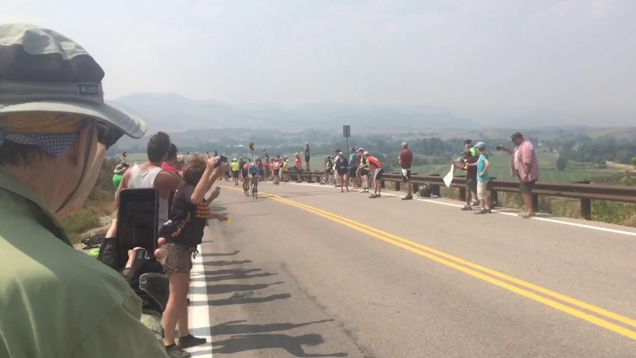 Party atop Bingham Hill for Pro Challenge
