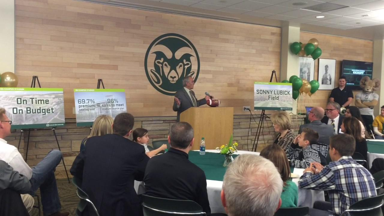 CSU names field at new stadium for Sonny Lubick