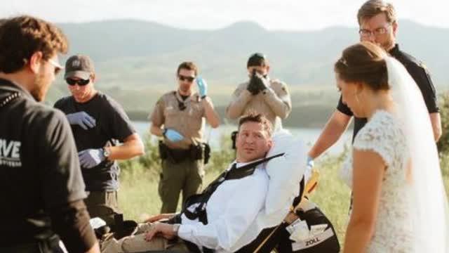 Rattlesnake bites Colo. groom during wedding photoshoot