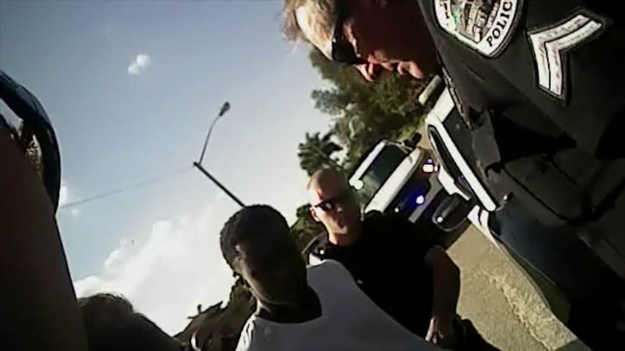RAW VIDEO: Fort Myers Police Dept  video of Michael McDonald's arrest  Part  1 of 2