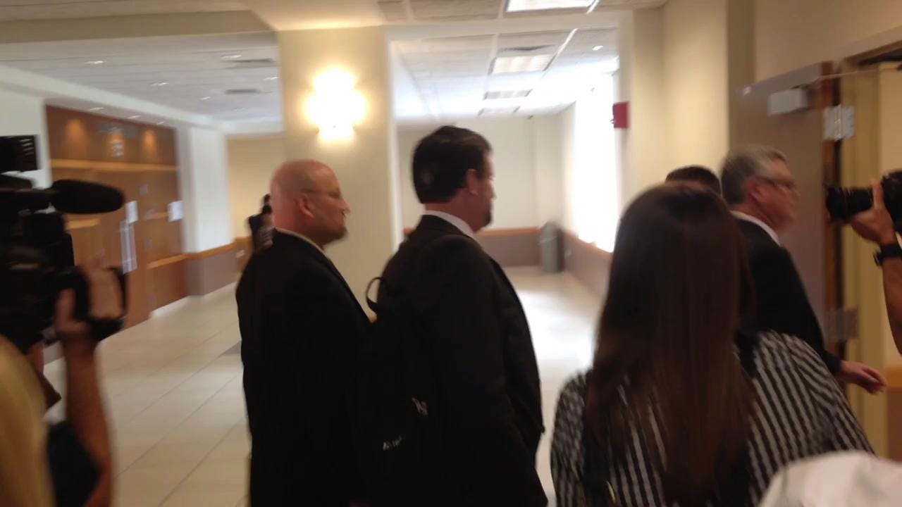 Mark Sievers exiting DCF custody hearing