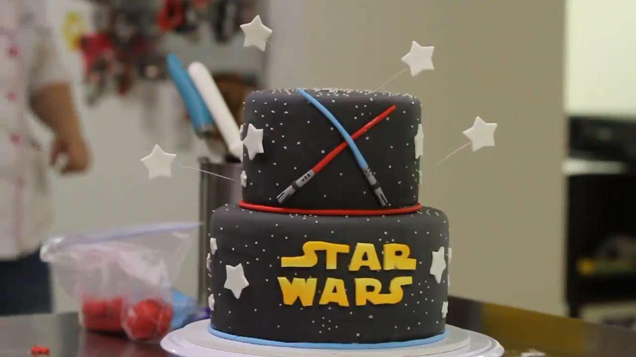 Star Wars Cake Decorating Time Lapse