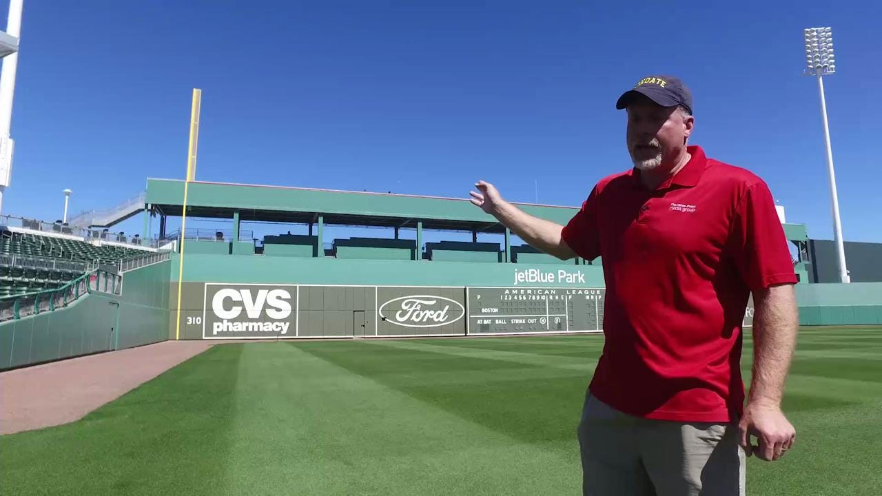 What's great at JetBlue Park at Fenway South, home of the Boston Red Sox?