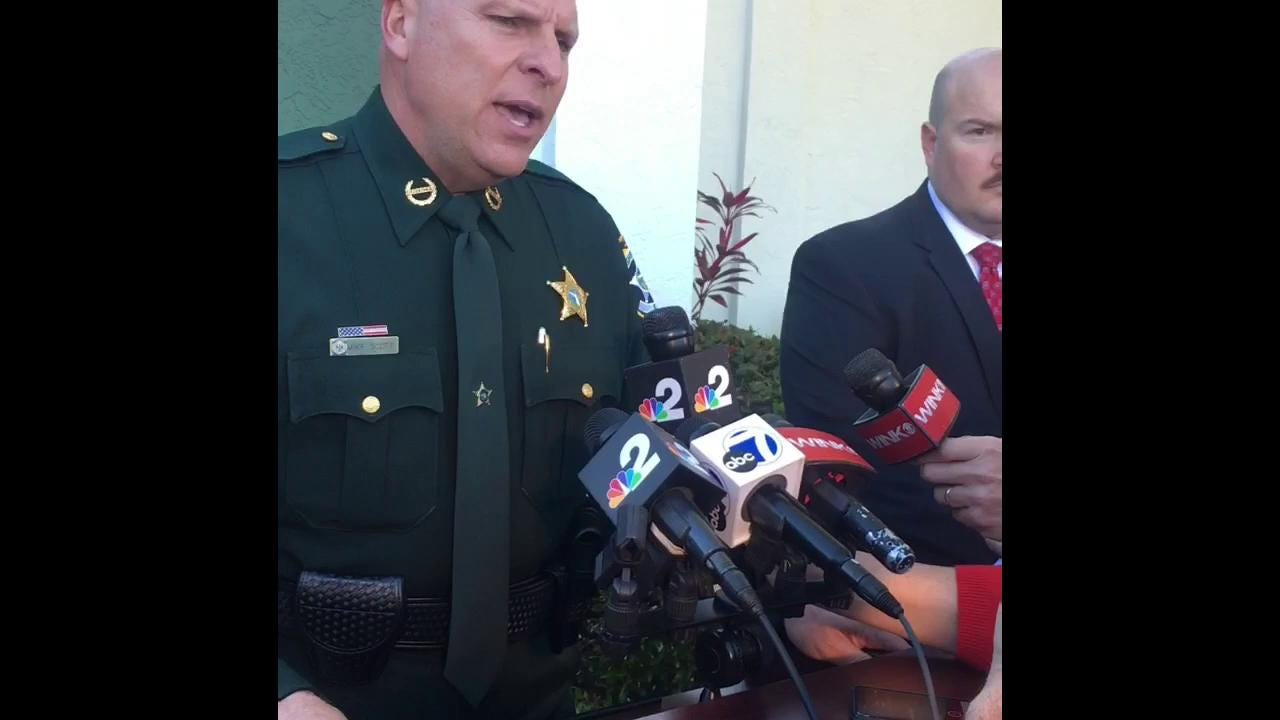 Sheriff Mike Scott speaks about the arrest of Mark Sievers