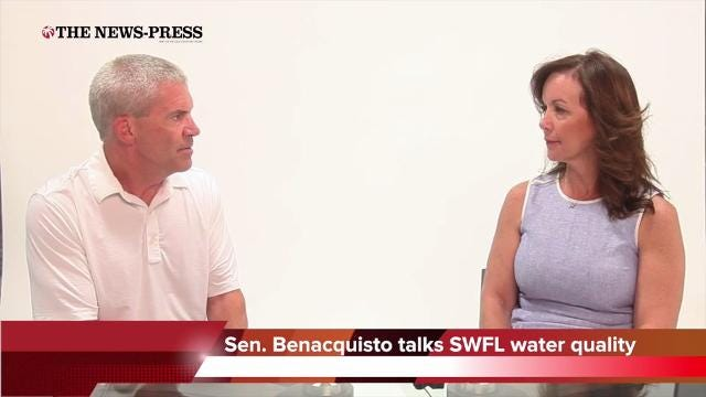 Sen. Lizbeth Benacquisto talks with The News-Press. She and other lawmakers were urging Gov, Rick Scott to add southwest Florida to the state of emergency declaration involving water quality on east coast before Scott did add Lee.