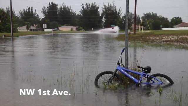 Flooding in NW Cape Coral
