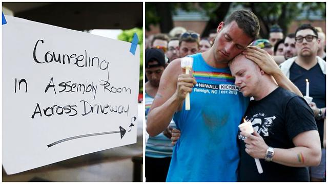 """We're here to hold your heart."" Counseling in Orlando crisis."