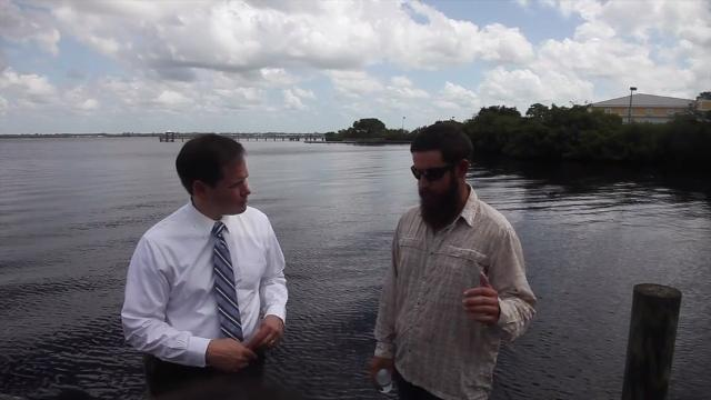 Senator Marco Rubio meets with local officials on water quality issues