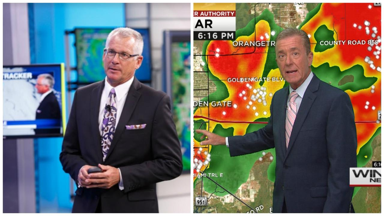 Meteorologists at NBC2 and WINK both claim to have called Hurricane Charley's turn first