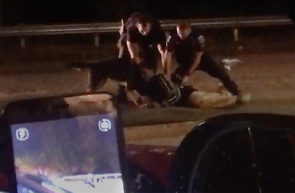 Raw video: Fort Myers police dog attacks restrained suspect