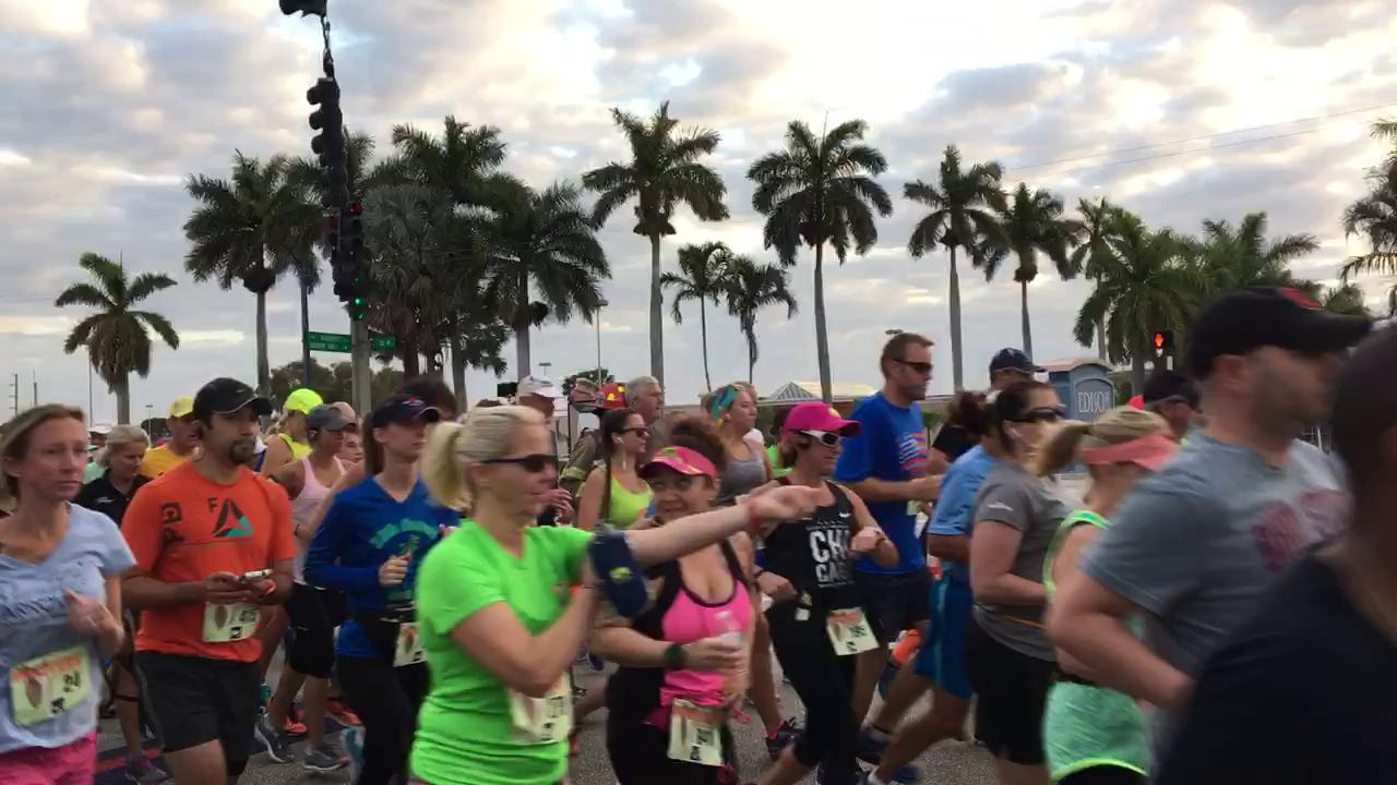 Hooters Half Marathon off and running